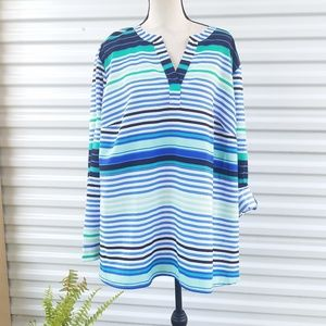 Talbots striped slip-on top